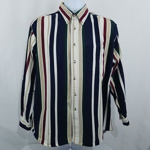 Trader Bay Mens Size Large Button Front Shirt L/S